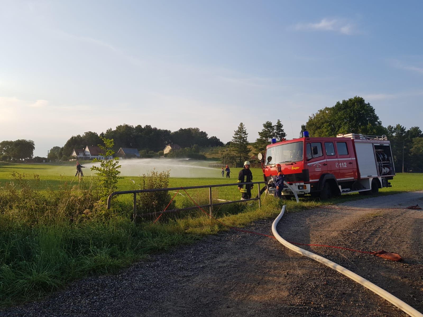 Übung 2 - Löschaufbau mit kleiner Wasserschlacht